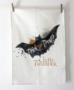 CREEPY BAT HALOWEEN Tea Towel / Dish Cloth