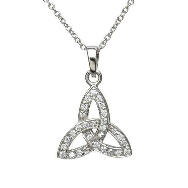 TRINITY KNOT PENDANNT WITH DIAMOND CZ