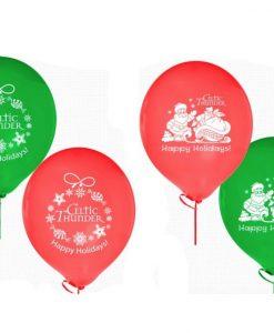12 CELTIC THUNDER CHRISTMAS FESTIVE BALLOONS