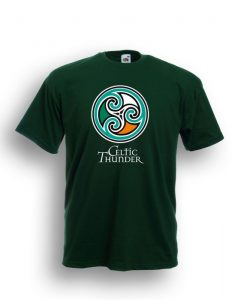 CELTIC SPIRAL TEE FOREST GREEN