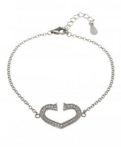 DIAMOND HEART BRACELET  &  MATCHING EARRINGS