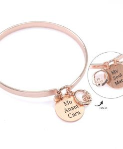 My Soul Mate - Mo Anam Cara Beautiful Rose Gold plated Bangle