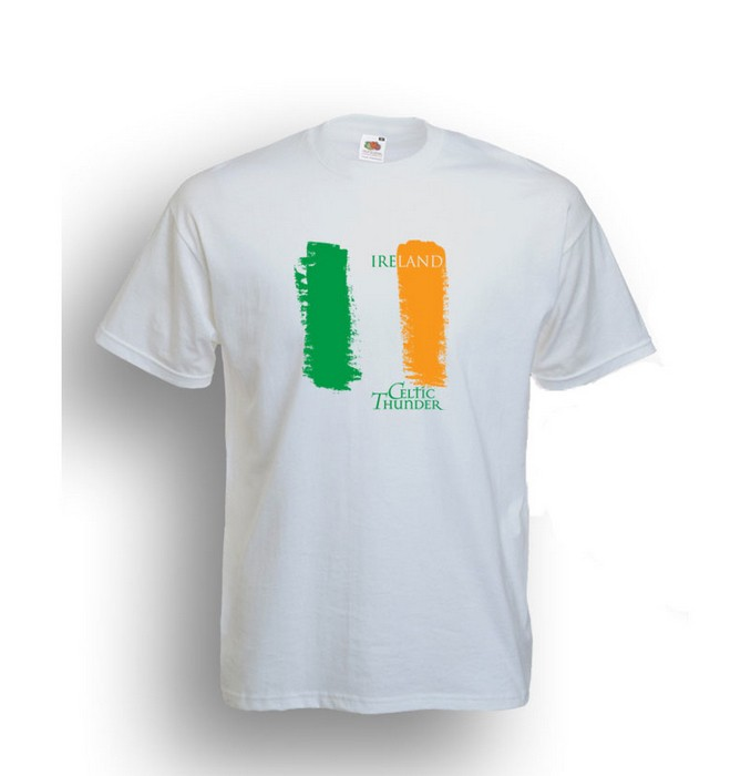 CELTIC THUNDER IRISH FLAG SHIRT /WHITE