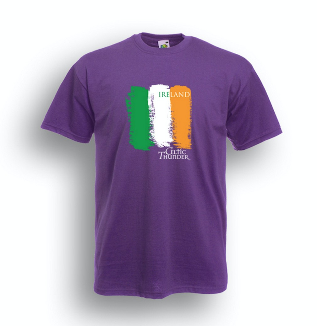 CELTIC THUNDER IRISH FLAG SHIRT / PURPLE