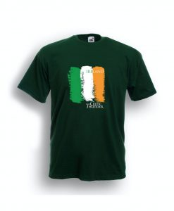 CELTIC THUNDER IRISH FLAG SHIRT / DARK GREEN