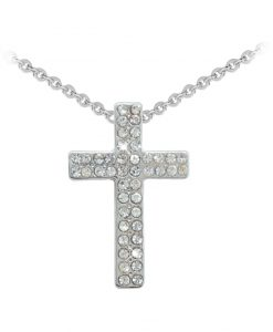 TIPPERARY CRYSTAL CHUNKY CROSS SILVER PENDANT