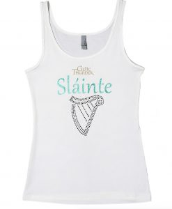 LADIES HARP BLING & SĹINTE SLEVELESS TOP
