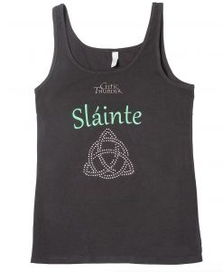 LADIES SPIRAL BLING & SĹINTE SLEVELESS TOP