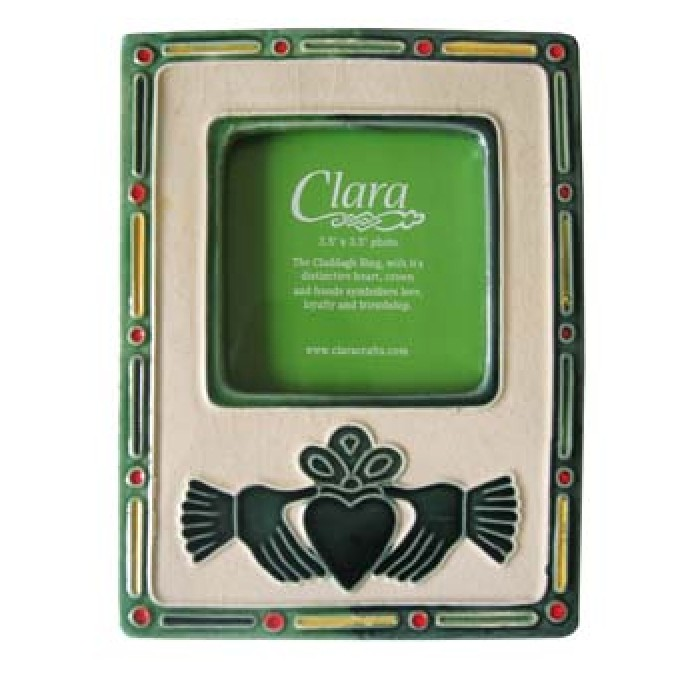AGED CLADDAGH PHOTO FRAME