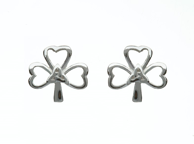 SHAMROCK & TRINITY KNOT EARRINGS