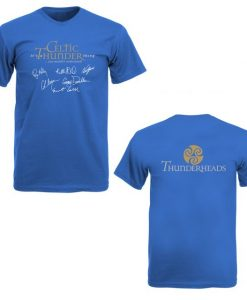 THUNDERHEAD V-NECK T-SHIRT DUBLIN BLUE
