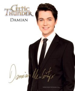Celtic Thunder Damian Mc Ginty Photo Card