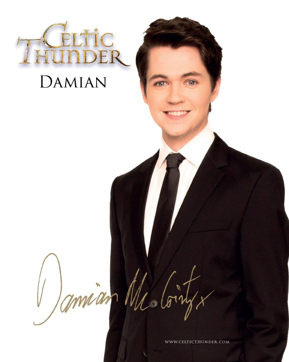 Celtic Thunder Damian Mc Ginty Photo Card