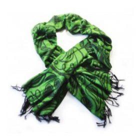 Green Shamrock Design Pashmina Scarf