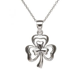 Beautiful Double Shamrock Pendant