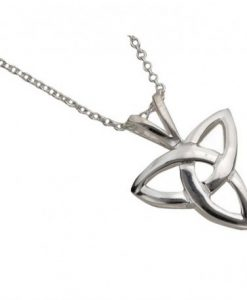 Large Trinity Knot Pendant In Sterling Silver
