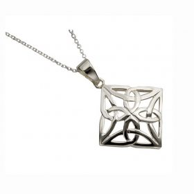 Classic Celtic Design Square Pendant