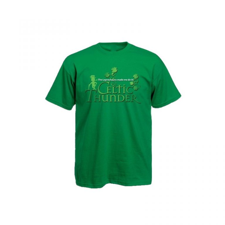 The Leprechauns Made Me Do It T-Shirt Kelly Green
