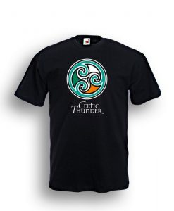 Celtic Spiral Tee Black