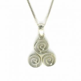 Sterling Silver Triskel Pendant Necklace
