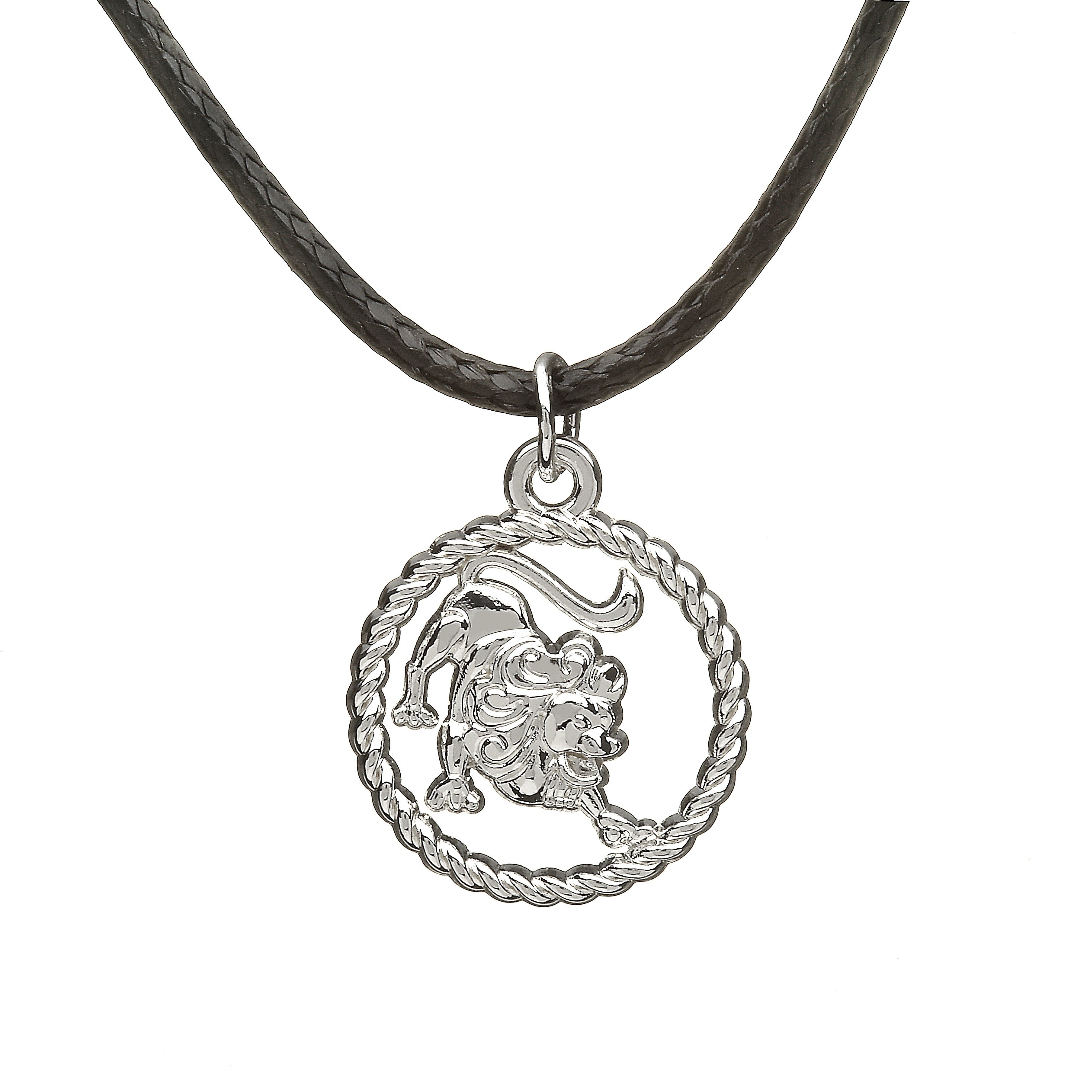shop lion pendant denimes jewellery necklace serge silver
