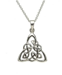 Celtic Knotwork Pendant In Sterling Silver