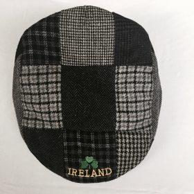 Traditional Irish Handmade Patch Cap Black