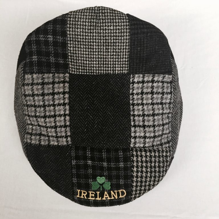 b8e5815a14fae Traditional Irish Handmade Patch Cap Black