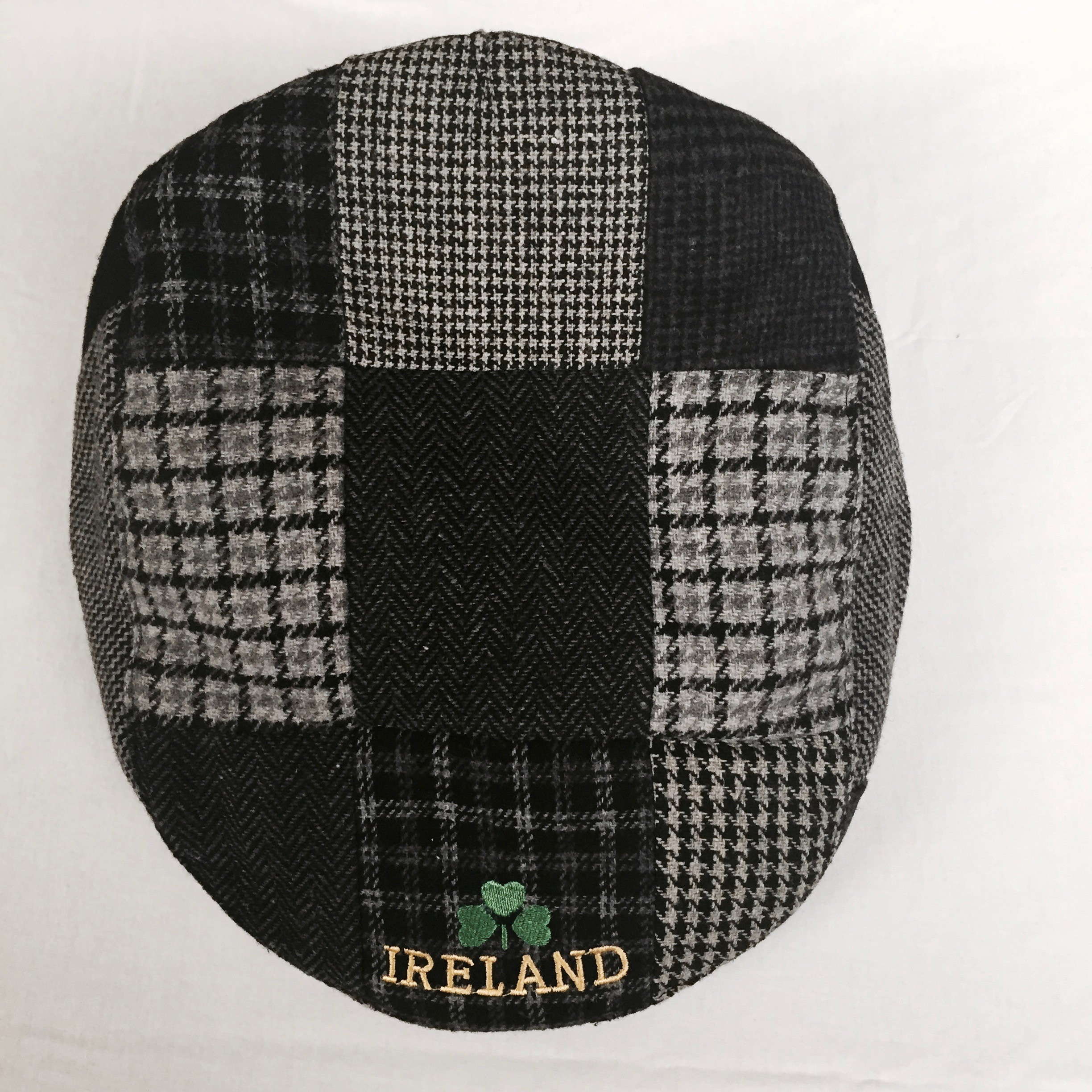 Traditional Irish Handmade Patch Cap Black