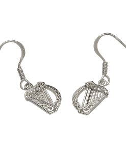 Irish Harp Drop Earrings