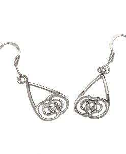 Celtic Knot Drop Earrings