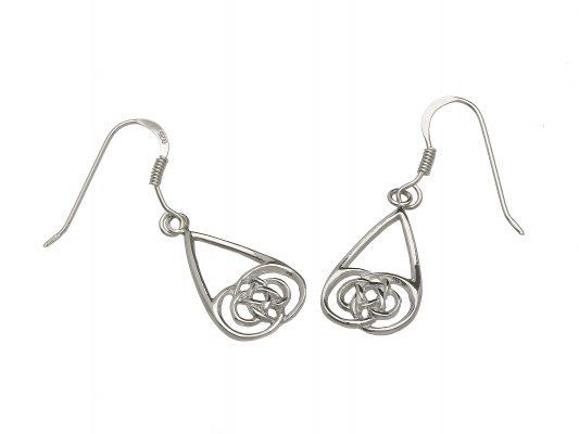 Celtic Knot Drop Earrings