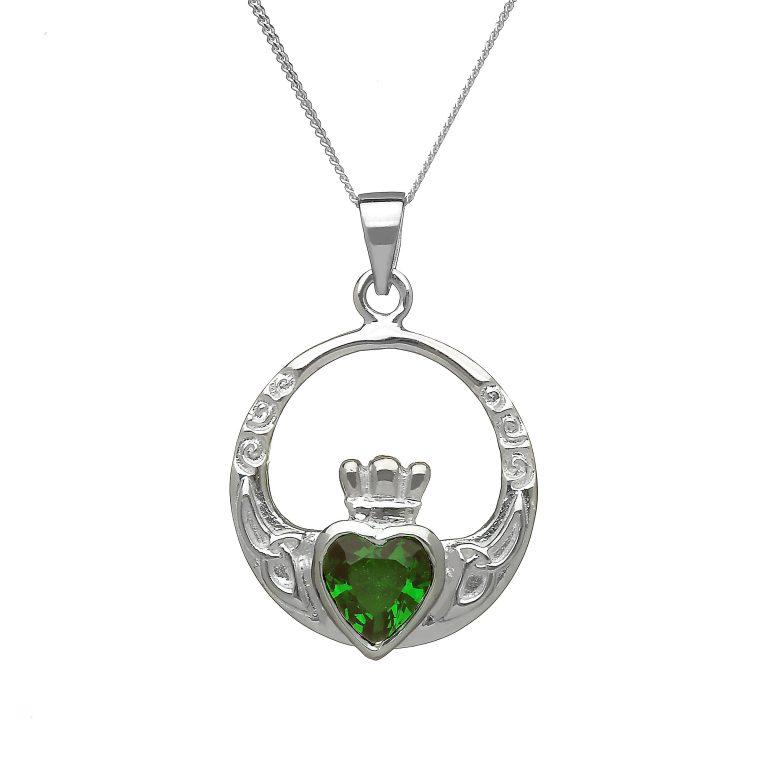 Emerald Claddagh Pendant