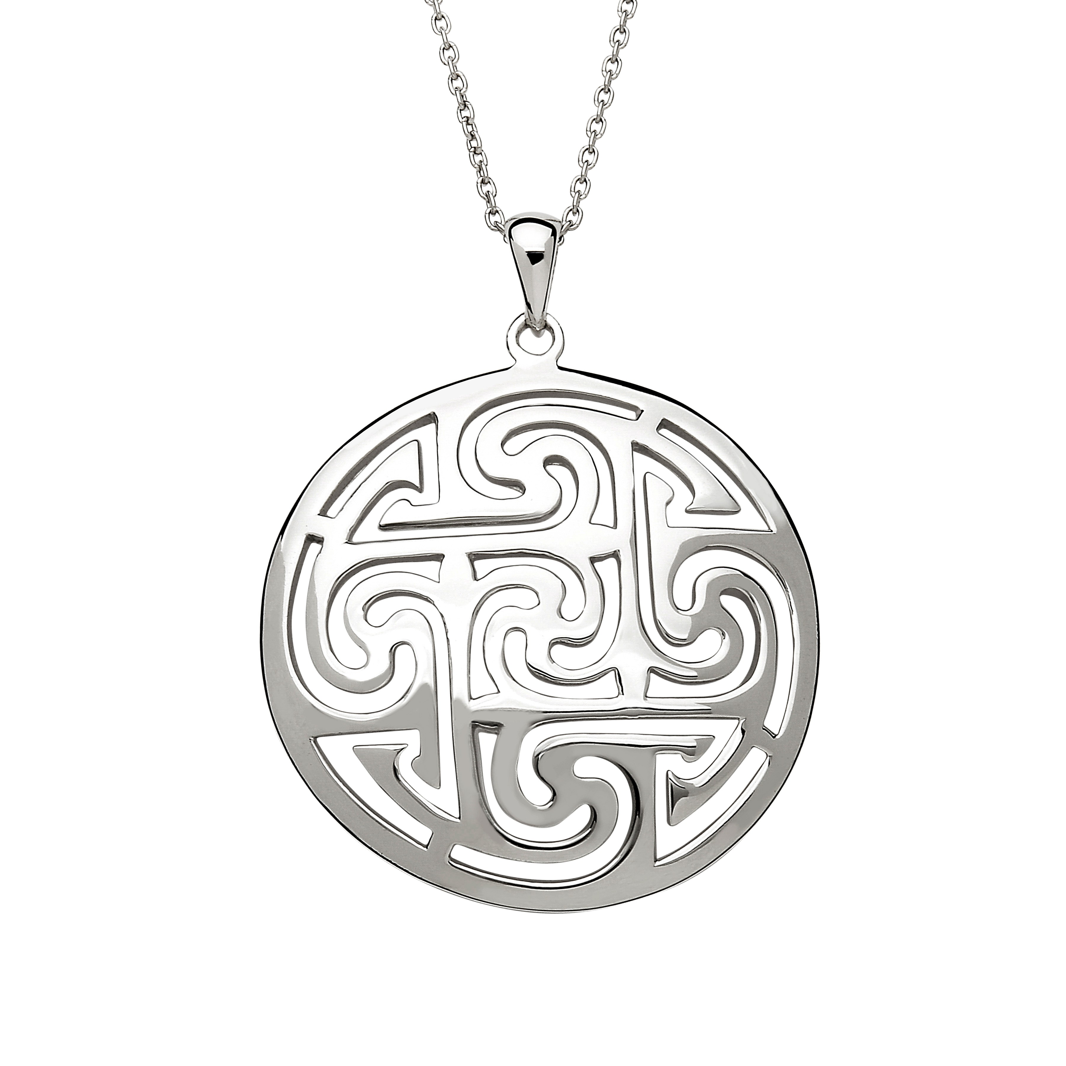 jewelry brass celtic moon silver sterling necklace pendant handmade itm chain vjnb