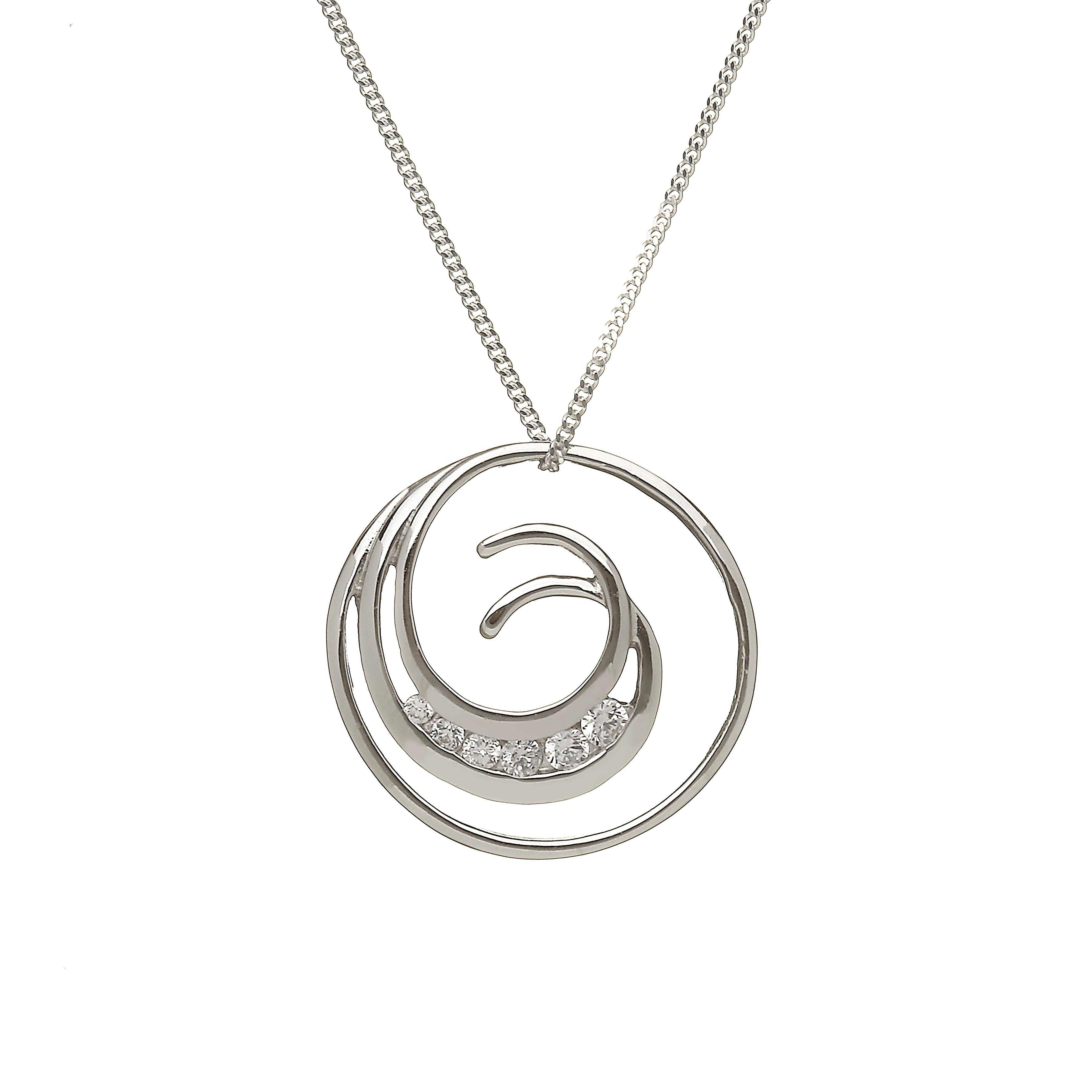 Diamond Swirl Pendant