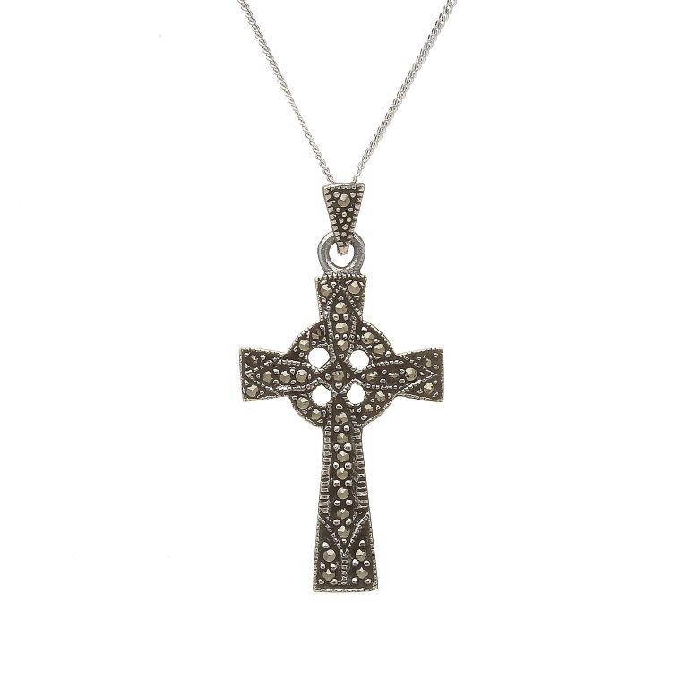 Marcasite Celtic Cross & Chain