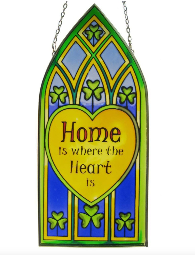 Home Is Where The Heart Is Gothic Suncatcher
