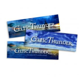 3 Pack Celtic Thunder Bumper Sticker Set * Buy One Set & Get Another Set Free *