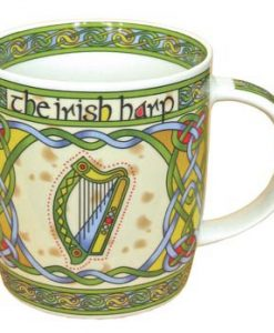 Irish Harp Bone China Mug