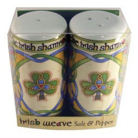 Irish Shamrock Salt & Pepper Set