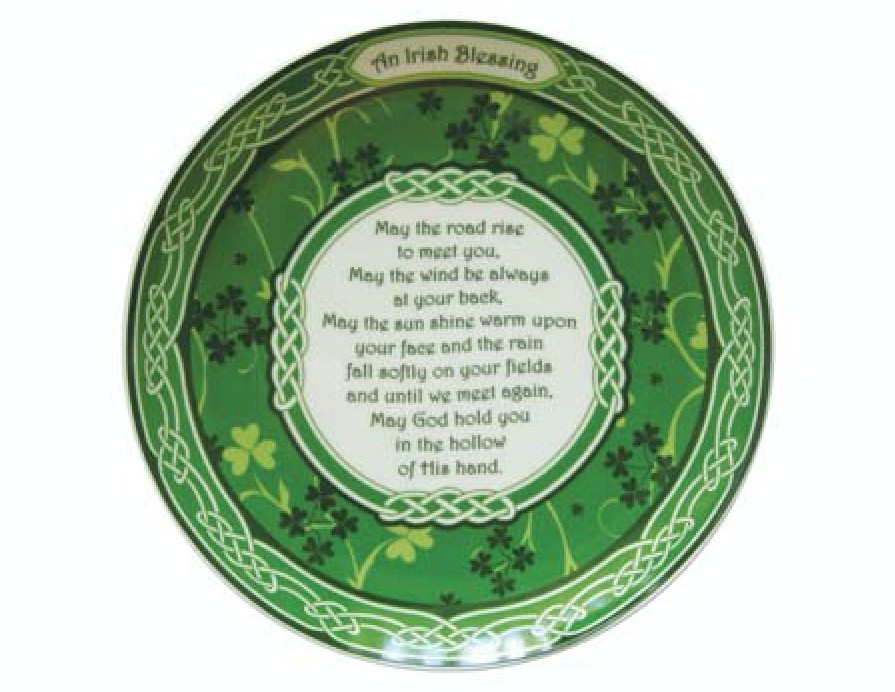 Shamrock Garden 8 Inch Irish Blessing Bone China Plate