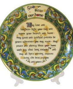 God Bless Our Home 8 Inch Bone China Plate