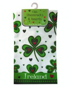 2 Shamrocks & Hearts Tea Towels