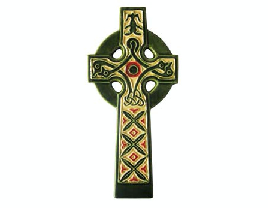 Hand Painted Ceramic Irish High Cross