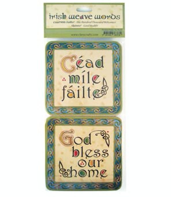 4 Old Irish Sayings Coasters