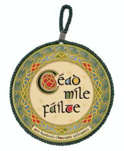 Cead Mile Failte Rope Plaque / Pot Stand
