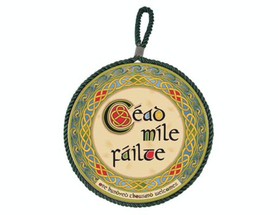 Cead Mile Failte Rope Plaque / Pot Stand