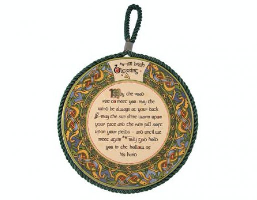 Irish Blessing Rope Plaque / Pot Stand
