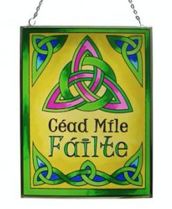 Cead Mile Failte Stained Glass Suncatcher