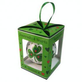Shamrocks & Hearts Christmas Bauble